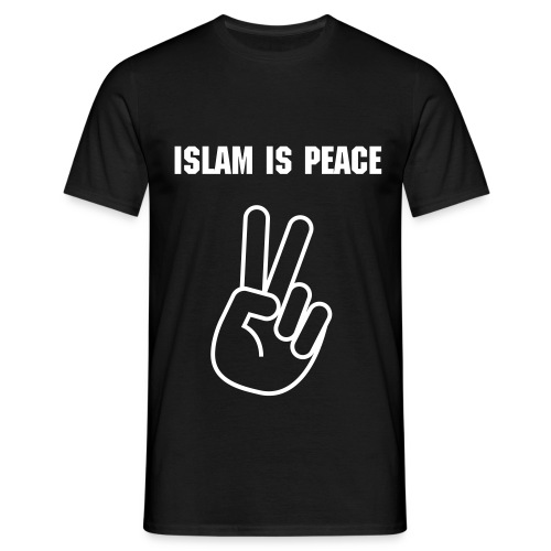 Islam Is Peace Hand - Herre-T-shirt