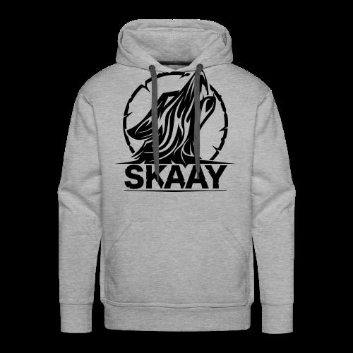 ♂ Hoodie (1. Skaay Logo Schwarz) - Männer Premium Hoodie