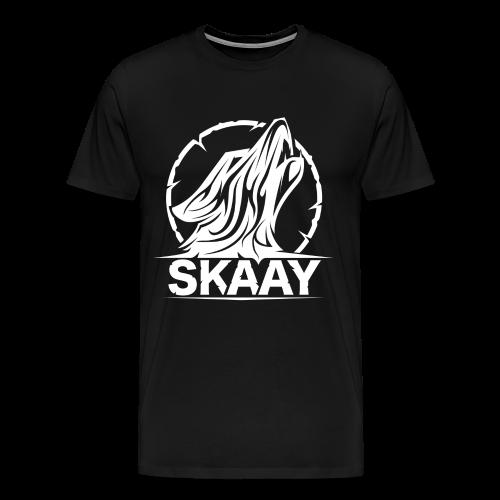 ♂ T-Shirt (1. Skaay Logo Weiß) - Männer Premium T-Shirt