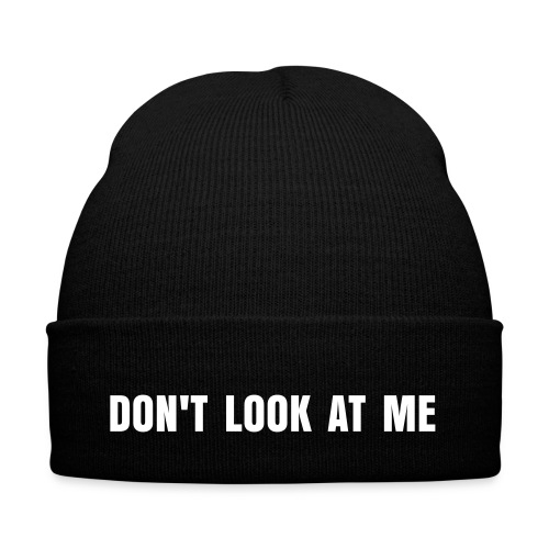 Cappello nero Don't look at me - Cappellino invernale