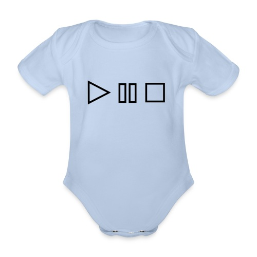 Organic Short-sleeved Baby Bodysuit - baby rock