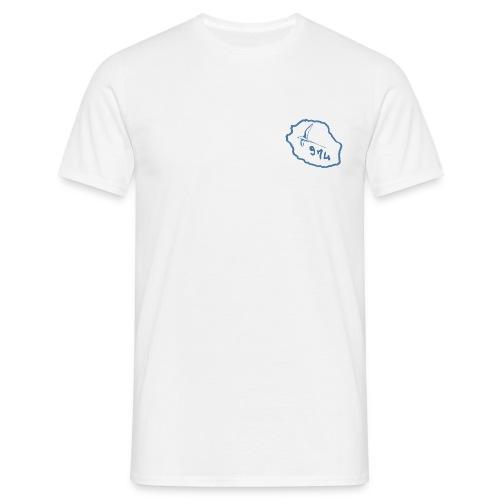 T-shirt hommecarte oiseaux bleuile de la réunion - T-shirt Homme