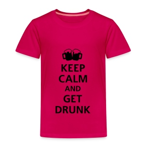 Forever Young! Keep calm and get drunk shirt - Kinderen Premium T-shirt