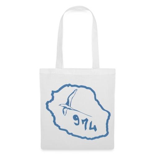 saccarte oiseaux bleuile de la réunion - Tote Bag