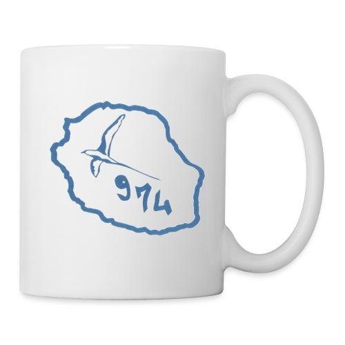 tassecarte oiseaux bleuile de la réunion - Mug blanc