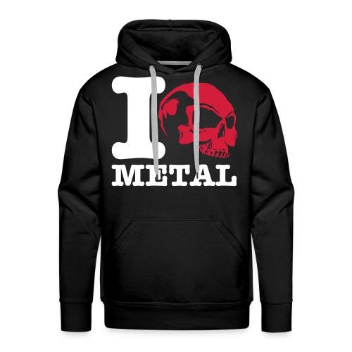 metal skull sweather - Men's Premium Hoodie