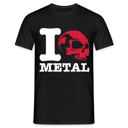 metal skull - Men's T-Shirt