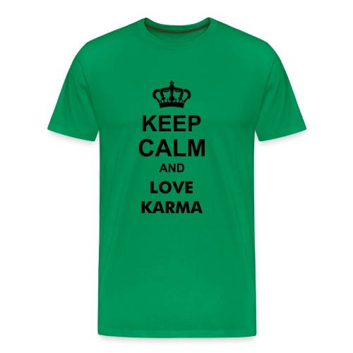 Keep Calm Love Karma  - Männer Premium T-Shirt