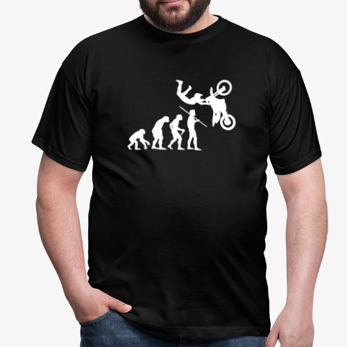 Men's Evolution of Man - Motorcross T-Shirt - Men's T-Shirt