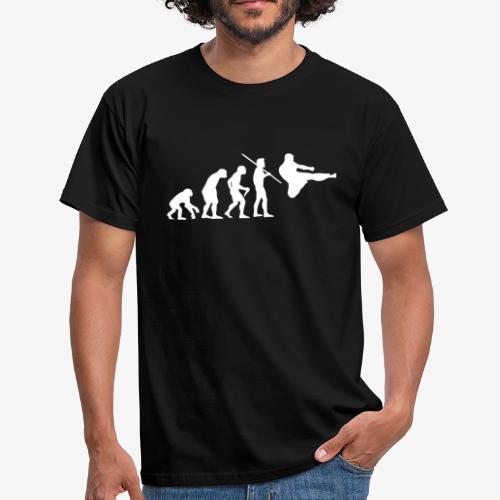 Men's Evolution of Man - Martial Arts T-Shirt - Men's T-Shirt