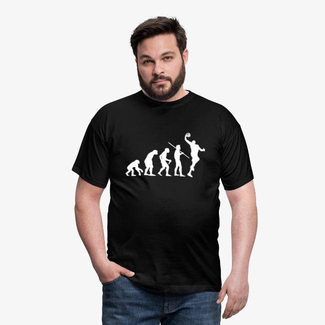 "Men's ""Evolution of Man - Basketball"" T-Shirt"