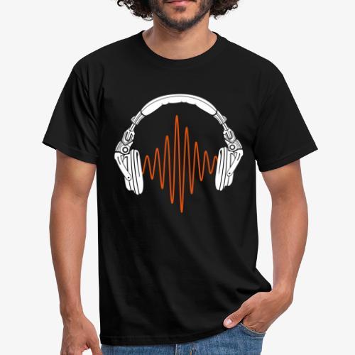 Men's Headphone & Sound Wave T-Shirt - B&C - Men's T-Shirt
