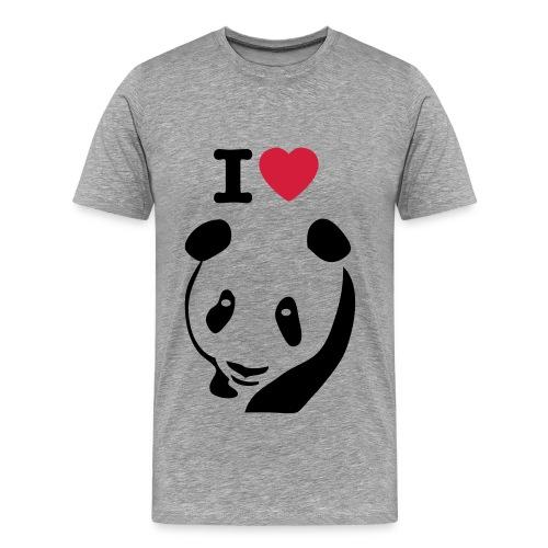 I Love Panda  - Mannen Premium T-shirt