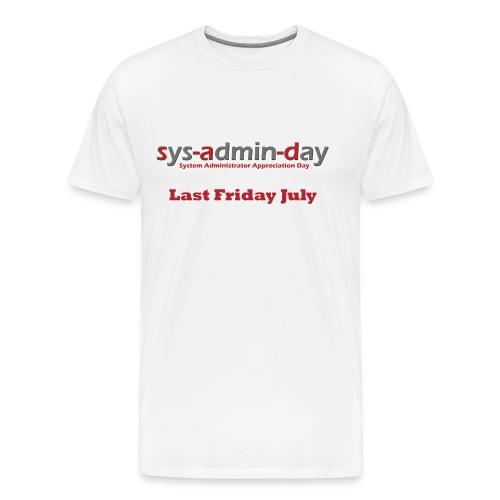 QR-CODE III - QR-Code Ärmel - Männer Premium T-Shirt