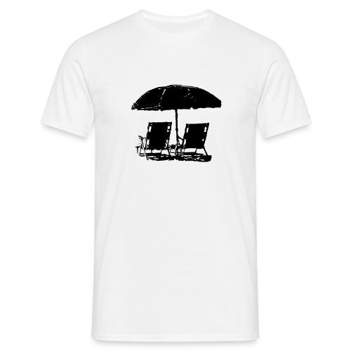 T-shirt uomo Ombrellone con due sdraio - Maglietta da uomo