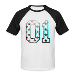 01 3D Baseball - Men's Baseball T-Shirt