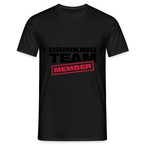 Drinking Team Member (schwarz) - Männer T-Shirt