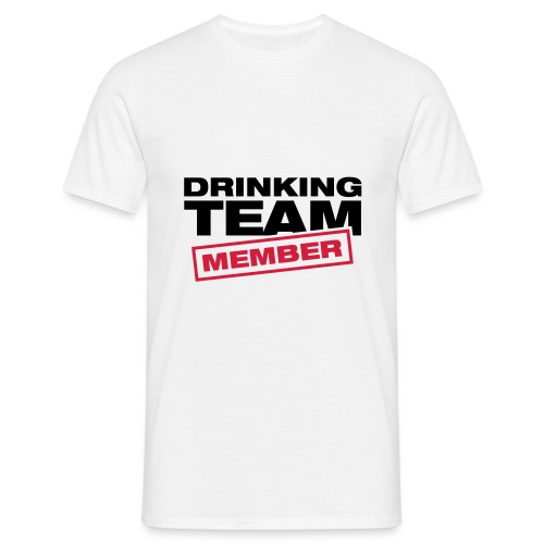 Drinking Team Member (weiß) - Männer T-Shirt