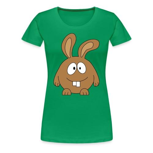 pummeliger Hase - Frauen Premium T-Shirt