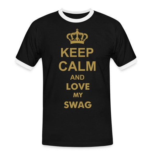 KEEP CALM AND LOVE MY SWAG - T-shirt contrasté Homme