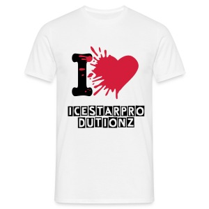 I Love IceStarProductionz (Man) - Mannen T-shirt