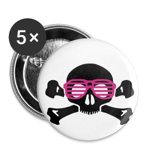 tête de mort geek skull - Badge petit 25 mm