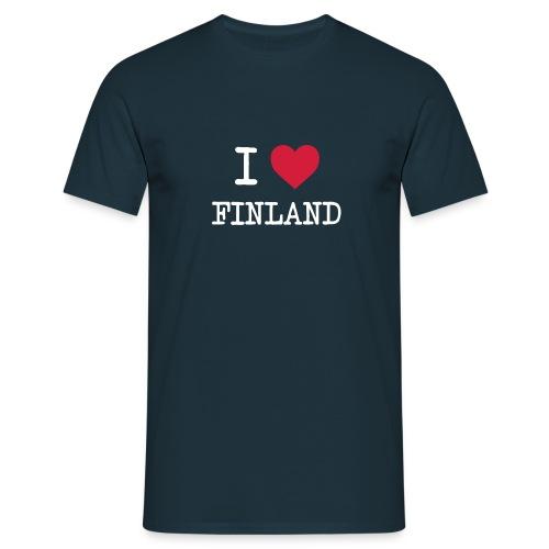 I love Finland -t-paita - Miesten t-paita