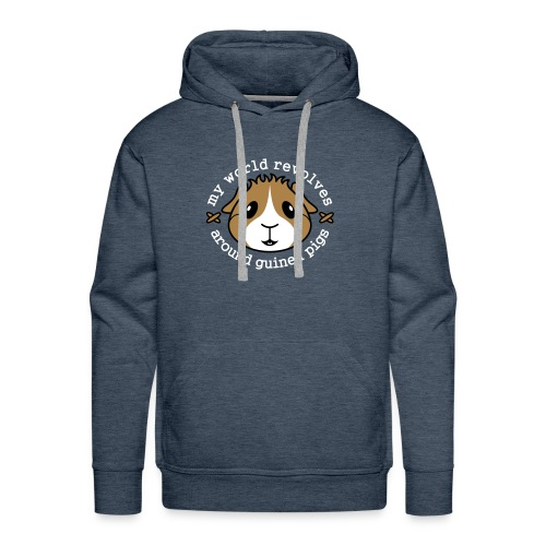 'My World Revolves Around Guinea Pigs' Men's Hoodie - Men's Premium Hoodie