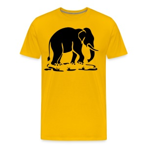 Asian Elephants Ahead Thai Traffic Sign T-Shirts - Men's Premium T-Shirt