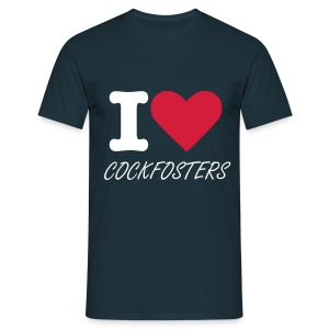 I HEART COCKFOSTERS - Men's T-Shirt