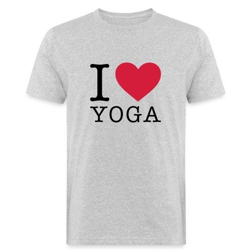 I love yoga - Männer Bio-T-Shirt