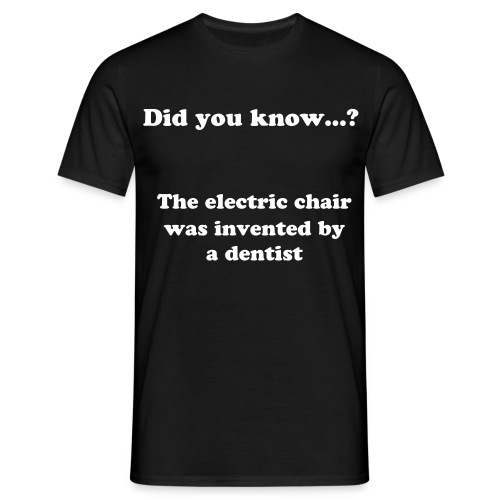Did you know...? the electric chair - T-skjorte for menn
