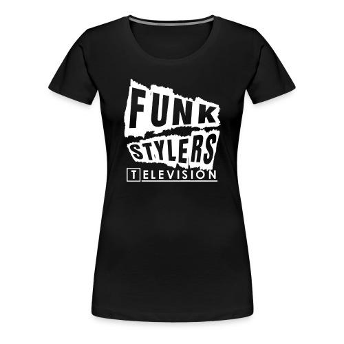 Womens Tee: Borderless - White Text - Women's Premium T-Shirt