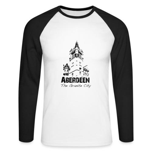 Aberdeen - the Granite City men's long-sleeve baseball T-shirt - Men's Long Sleeve Baseball T-Shirt