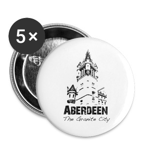 Aberdeen - the Granite City button badges x 5 - Buttons large 56 mm