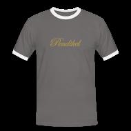 T-Shirts ~ Männer Kontrast-T-Shirt ~ golden mist