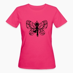 Yoga girl, butterfly wings, fairy, asana, teacher T-Shirts