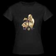 T-Shirts ~ Women's T-Shirt ~ Womens Leonardo paper plane Black T Shirt