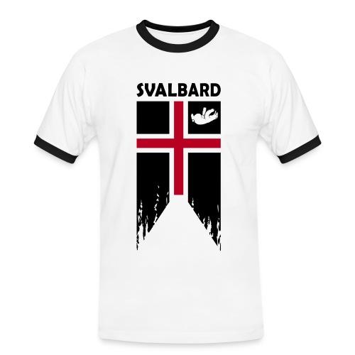 Svalbard - det komplet fiktive flag (plysprint) - Men's Ringer Shirt