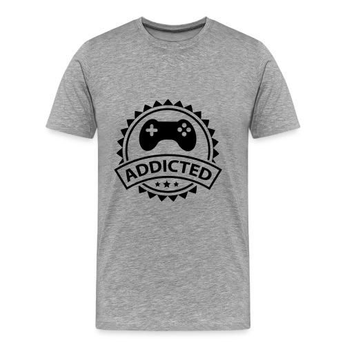 Addicted to games - Mannen Premium T-shirt