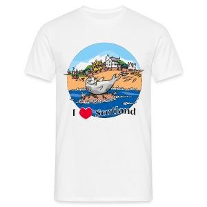 I love Scotland (White) - Men's T-Shirt