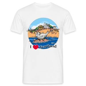 I love Scotland (White) - Men's T-Shirt