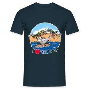 I love Scotland (Navy) - Men's T-Shirt
