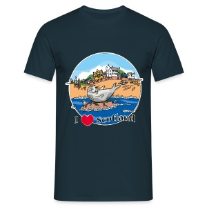 I love Scotland (Navy) - Men's T-Shirt