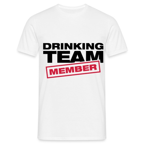 Drinking Team T-shirt with changeable text - Men's T-Shirt