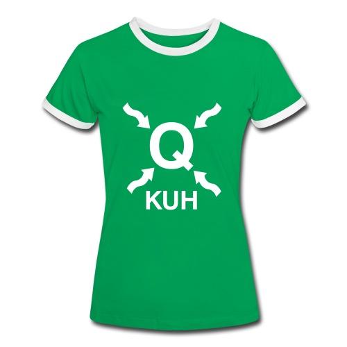 Q auf der Wiese - Frauen Kontrast-T-Shirt