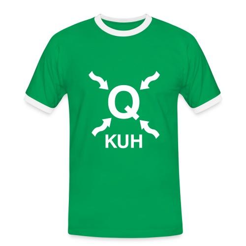 Q auf der Wiese - Männer Kontrast-T-Shirt