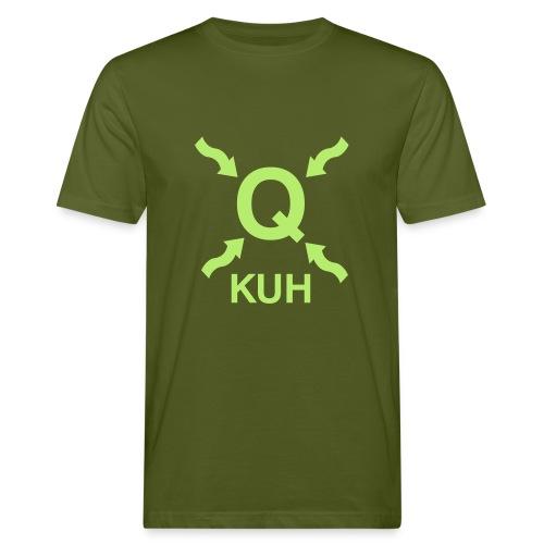 Q auf der Wiese - Männer Bio-T-Shirt