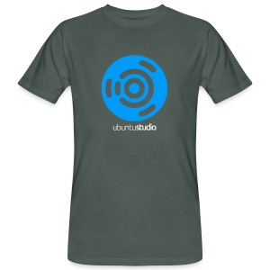 T-shirt Ubuntu Studio - Blue and White Logo - Men's Organic T-shirt
