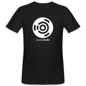 T-shirt Ubuntu Studio - White Logo - Men's Organic T-shirt